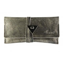Leather tobacco pouch Mava - Silver