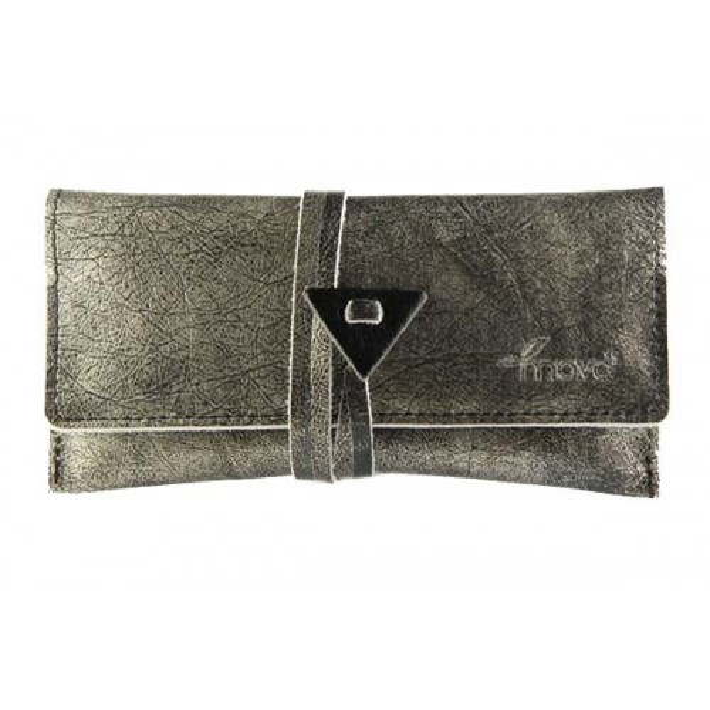 Leather tobacco pouch Mava - Silver