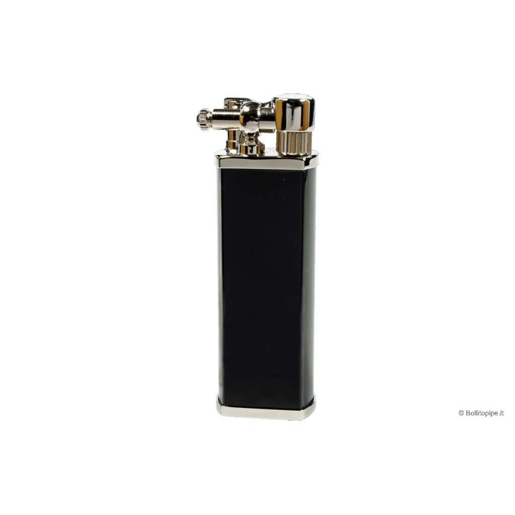 """Tsubota Pearl """"Bolbo"""" pipe lighter - Black & Chrome"""