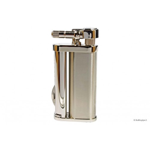 "Tsubota Pearl ""Bolbo"" pipe lighter with pipe tools - Matt Steel"