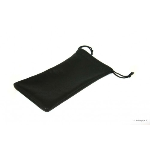 Black leather pipe pouch