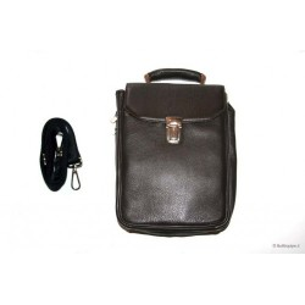 Bolsa Anvolo en piel para 7-14 pipas, tabaco y accessorios - marron
