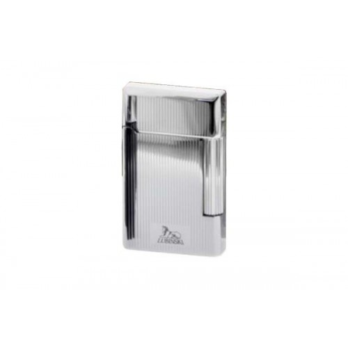 Pipe Lighter - chrome vertical lines