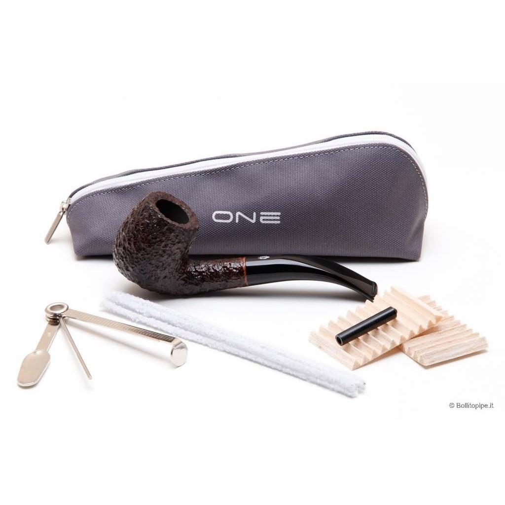 Pipa Savinelli One 601 rusticata - filtro 6mm