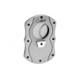 Colibri 2 blades Cigar Cutter Cut silver rubber