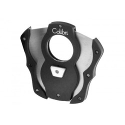 Colibri 2 blades Cigar Cutter Cut black rubber