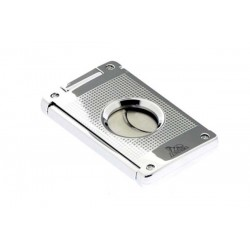 Cigar cutter 2 blades silver plate - chess