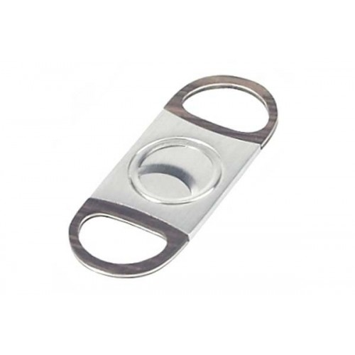 2 blades elliptic cigar cutter stainless steel with wood handles
