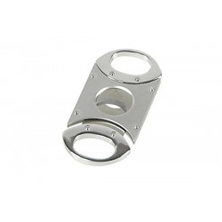 Cigar cutter 2 blades stainless steel satin & polished