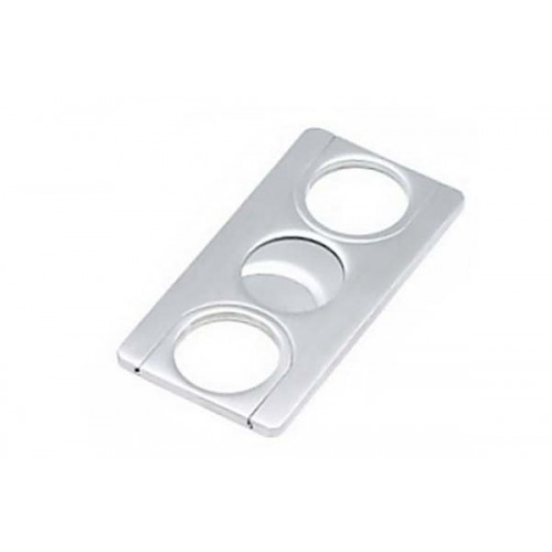 2 blades rectangle cigar cutter stainless steel
