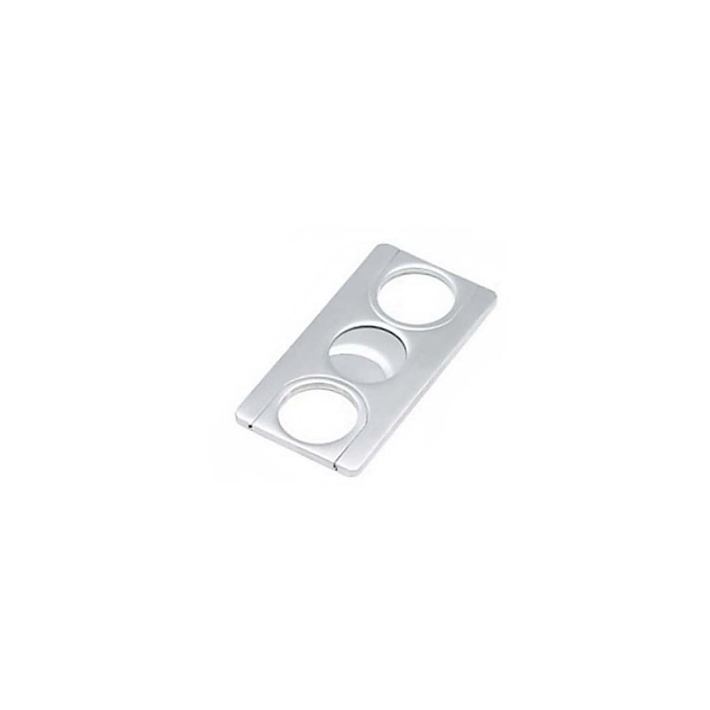 Cortacigarros doble hoja de acero rectangular plana