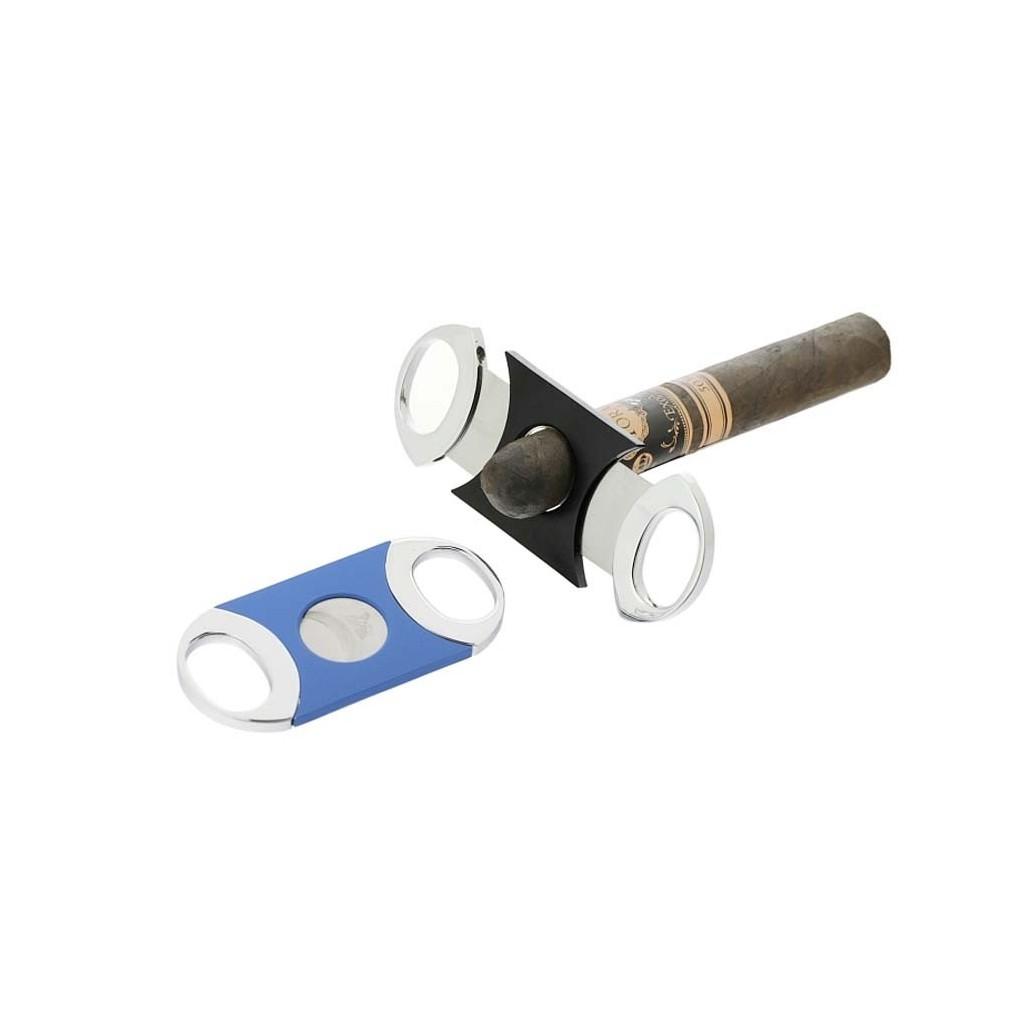 Coupe cigares Superflat à double lame noir ou bleu