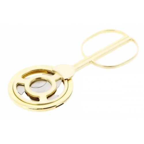 3 blades gold plated table cigar cutter