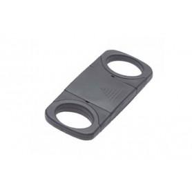 Cortacigarros de plástico negro con doble hoja con protector de la hoja