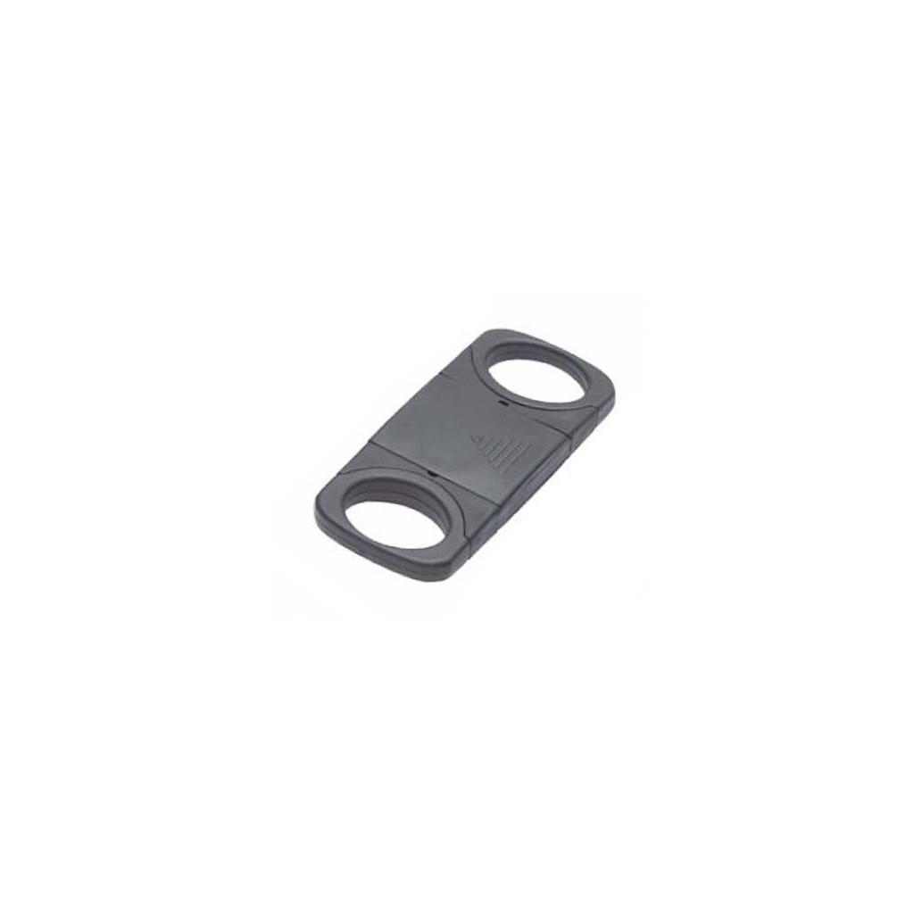 Tagliasigari in plastica nera doppia lama con coprilama