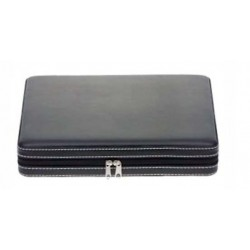 Faux Leather travel humidor with zip