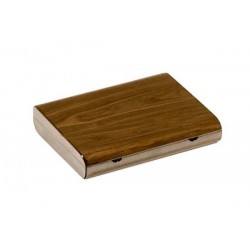 Travel humidor in elm wood high polished - cedar