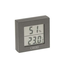 Credo digital thermo-hygrometer grey