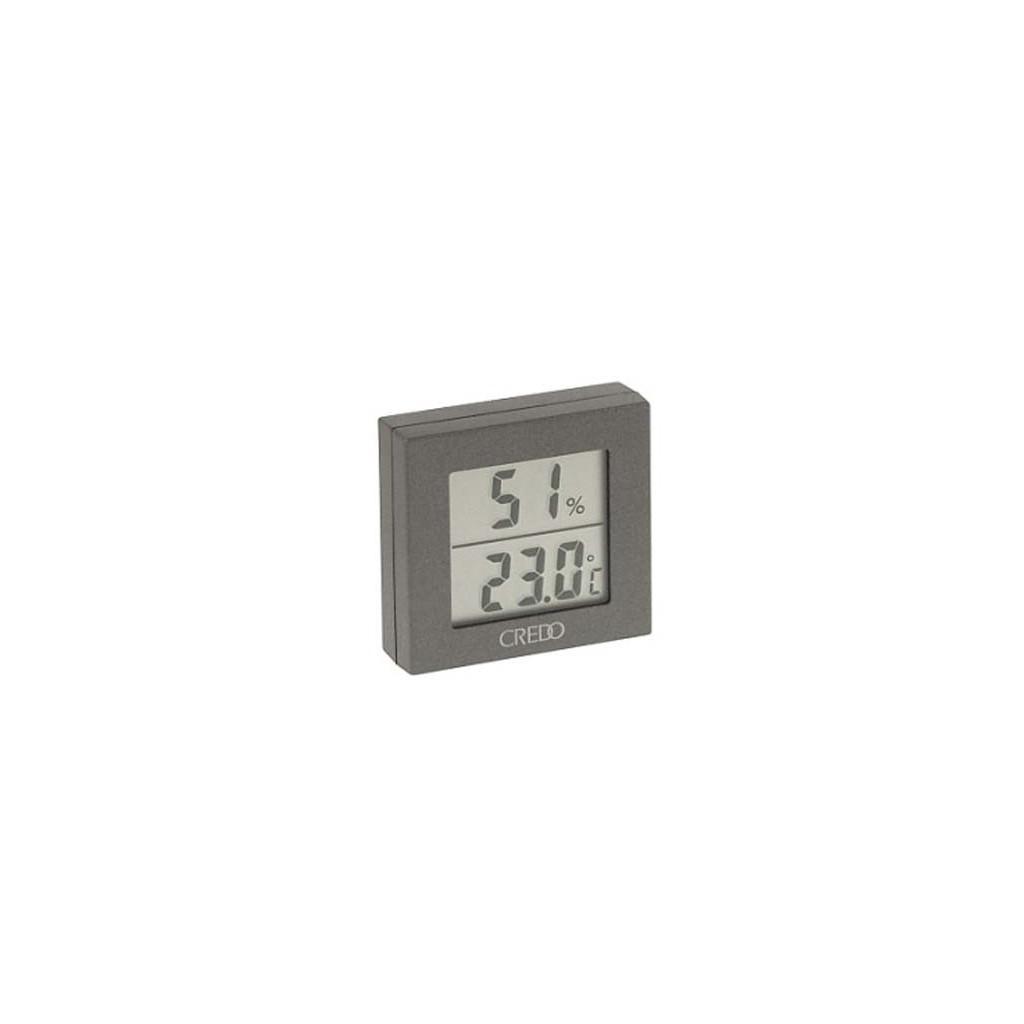 Thermo-hygromètre digital Credo gris