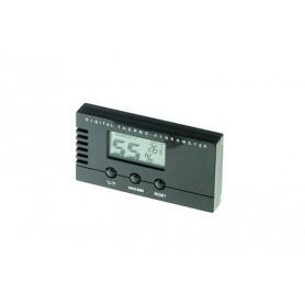 Termo-Igrometro digitale rettangolare nero