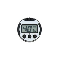 Digital thermo-hygrometer round