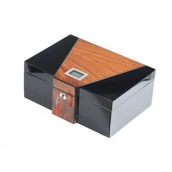 "Humidor ""Two Tone Big"" polished with drawer & key"
