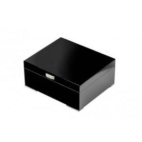 Humidor in lacca nera con igrometro digitale