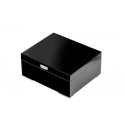 Shaped humidor black with digital higro