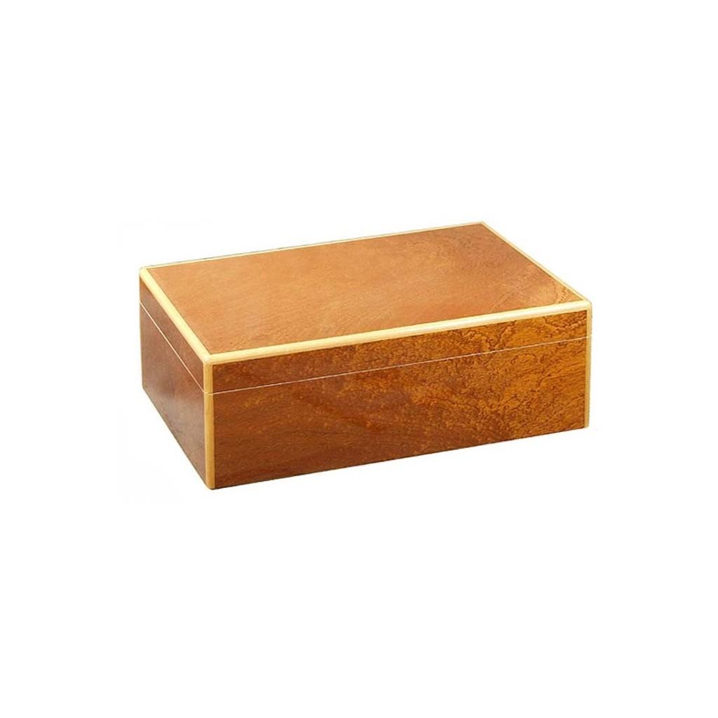 Humidor mahogany pomelé with digital higro
