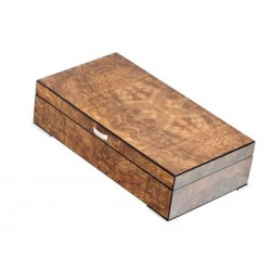 Humidor with crate elm briar matt, metal feet and digital higro