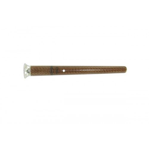 """Brown canvas Dunhill """"Junior"""" tamper silver plated"""