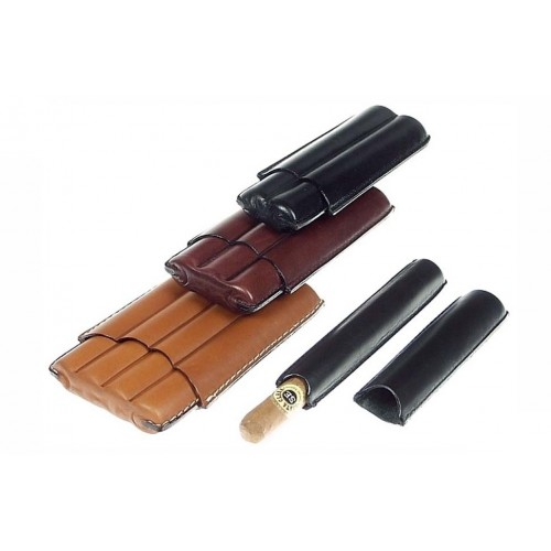 Leather cigar case for 1-2-3-4 Corona