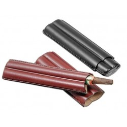 Leather cigar case for 2 cigars ring 38
