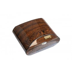 Oval humidor in ironwood polished with digital higro