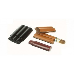 Leather cigar case for 1-2-3 Robusto