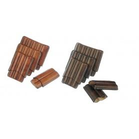Portasigari in cuoio invecchiato per 2-3-4-5 sigari mezzo Toscano