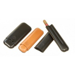 Leather cigar case for 2-3 Double Corona