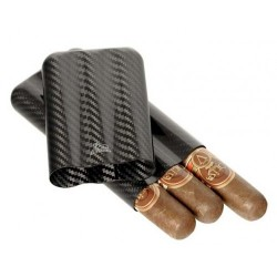 Carbon fiber cigar case for 3 cigars ring 60