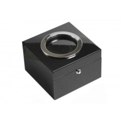 Cubo tobacco jar - black laque