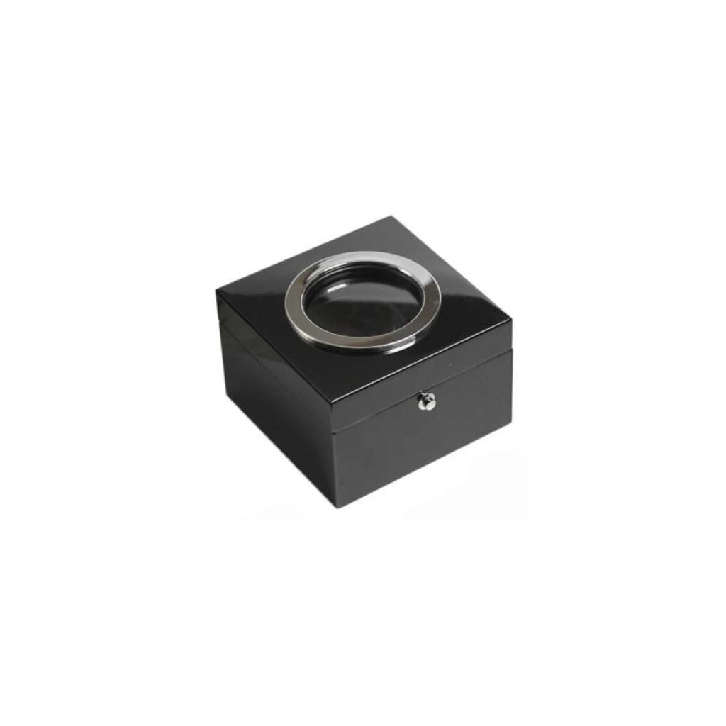 Cubo tobacco jar - black laque