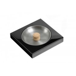 Black laque ashtray