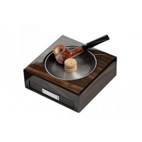 Cendrier à pipe en noix avec tiroir