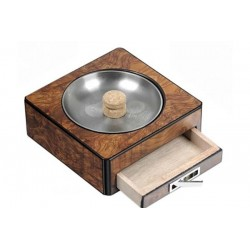Pipe-ashtray with drawer - elm briar