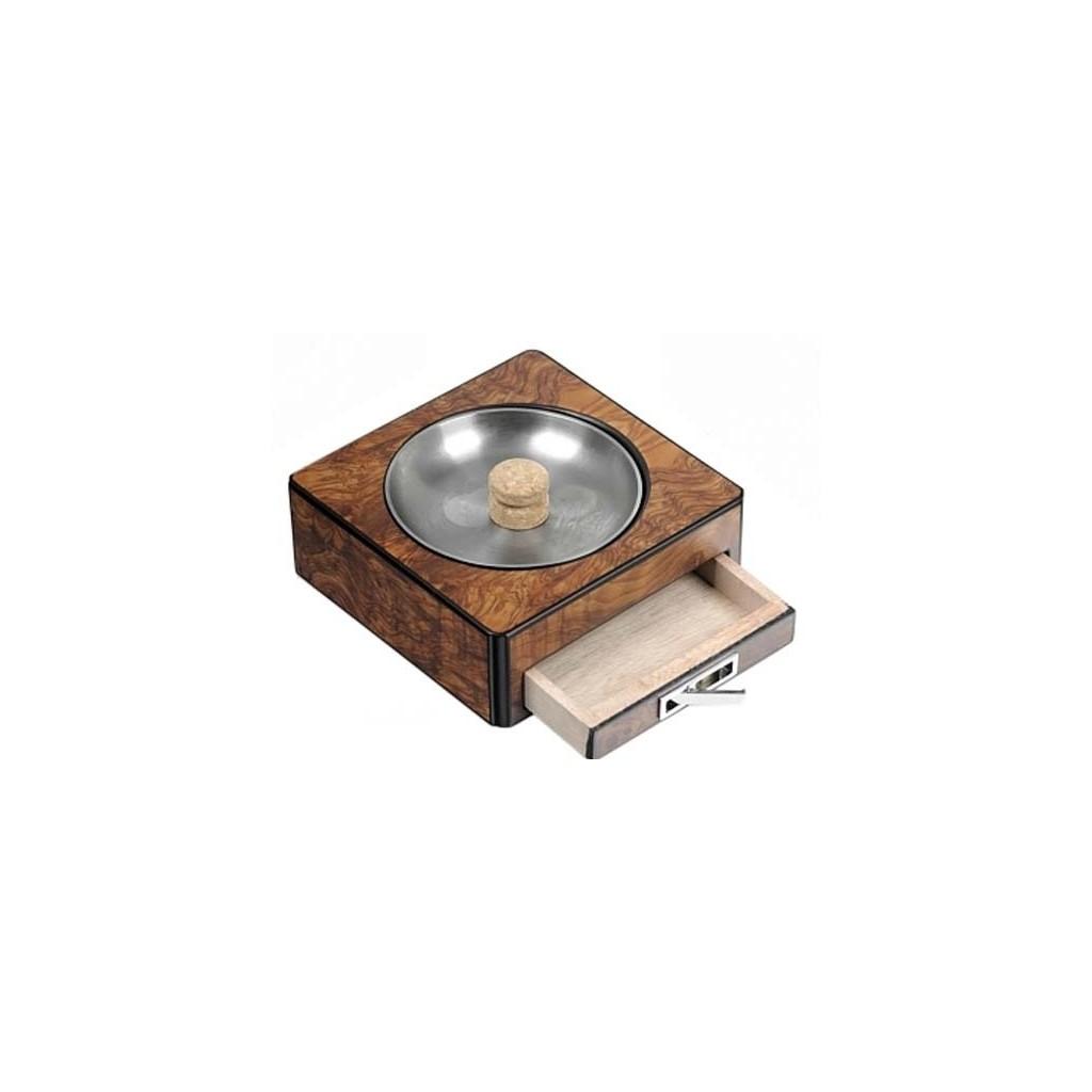 Cenicero por pipa de brezo de olmo con cajón
