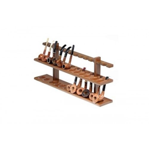 24 pipes wall rack in walnut