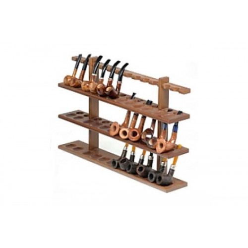 36 pipes wall rack in walnut