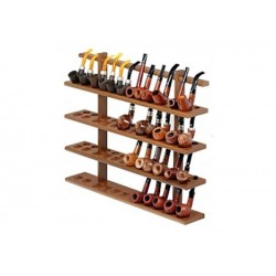 48 pipes wall rack in walnut