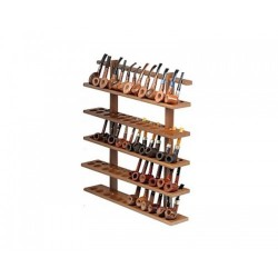 60 pipes wall rack in walnut