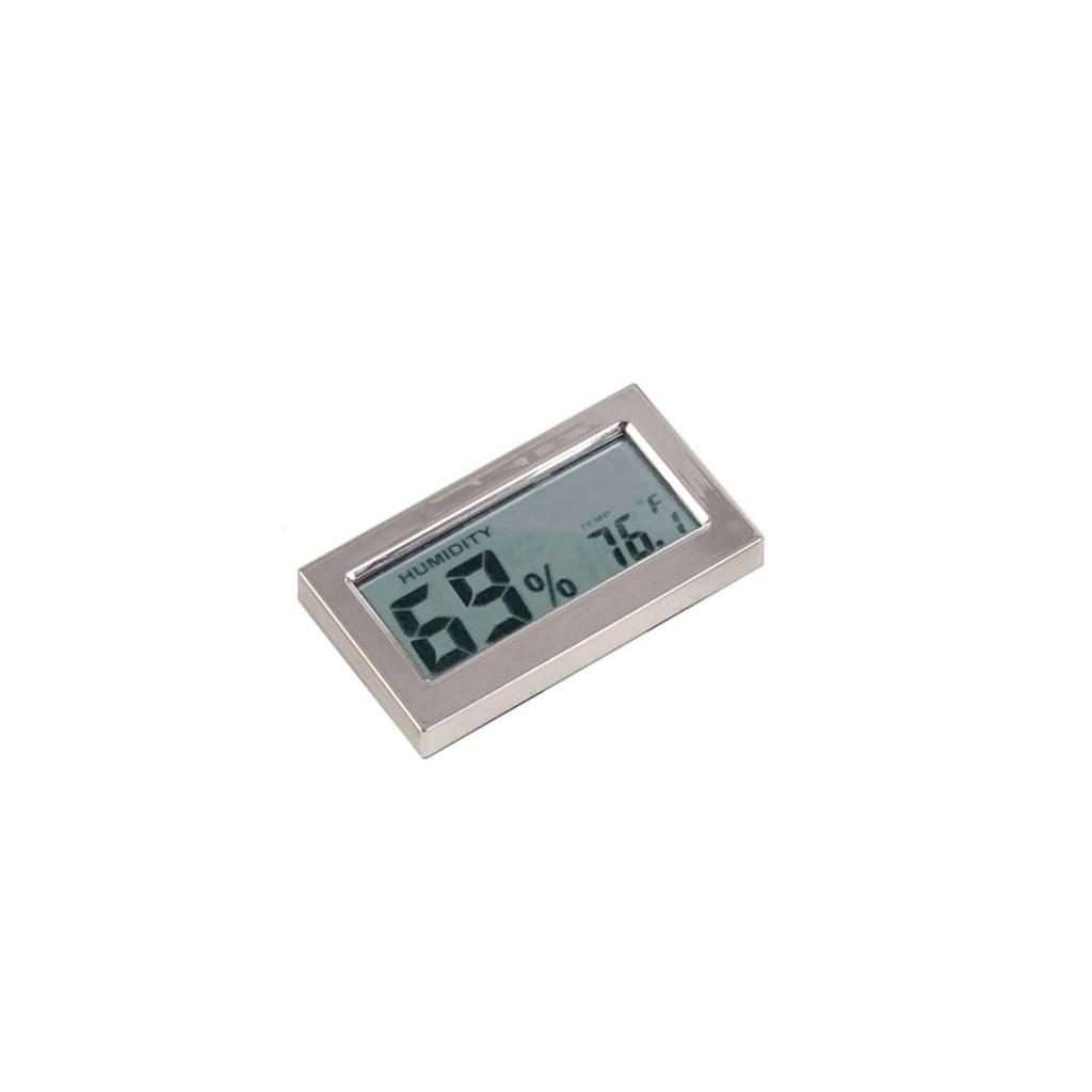 Termo-Igrometro digitale rettangolare cromato