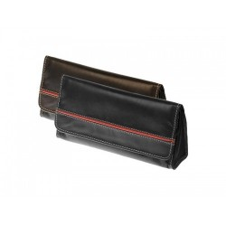 Colombian Buffalo leather pouch for 1 or 2 pipes, 2 tobacco and accessories